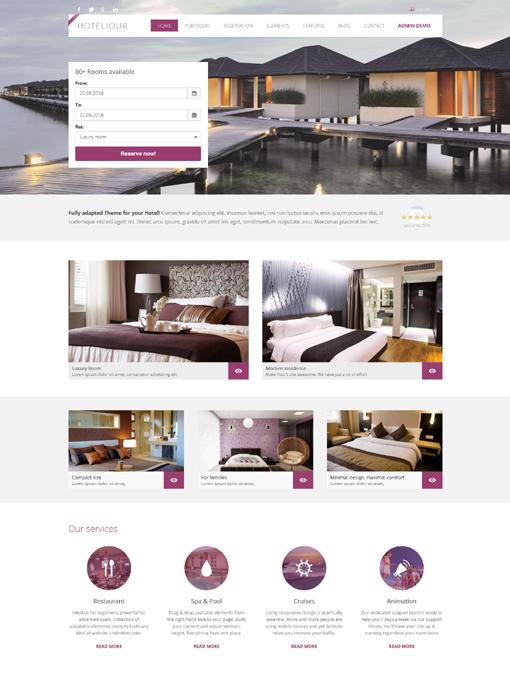Tema WordPress para hotel | Sistema de reservas | Albergue, pensión ...