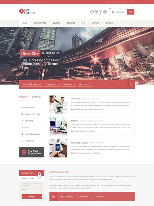 Tema WordPress de directorio | Tema WordPress de portal | Tema ...