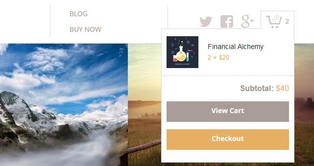 Καλάθι αγορών σε κάθε σελίδα