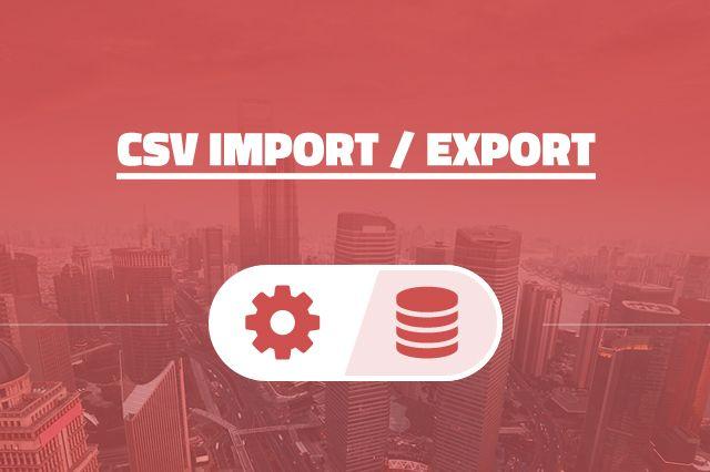 CSV Import / Export