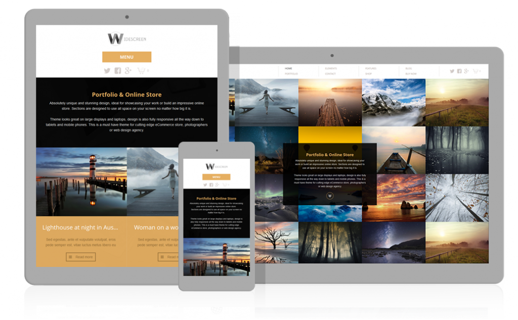 Responsive Widescreen WordPress Theme