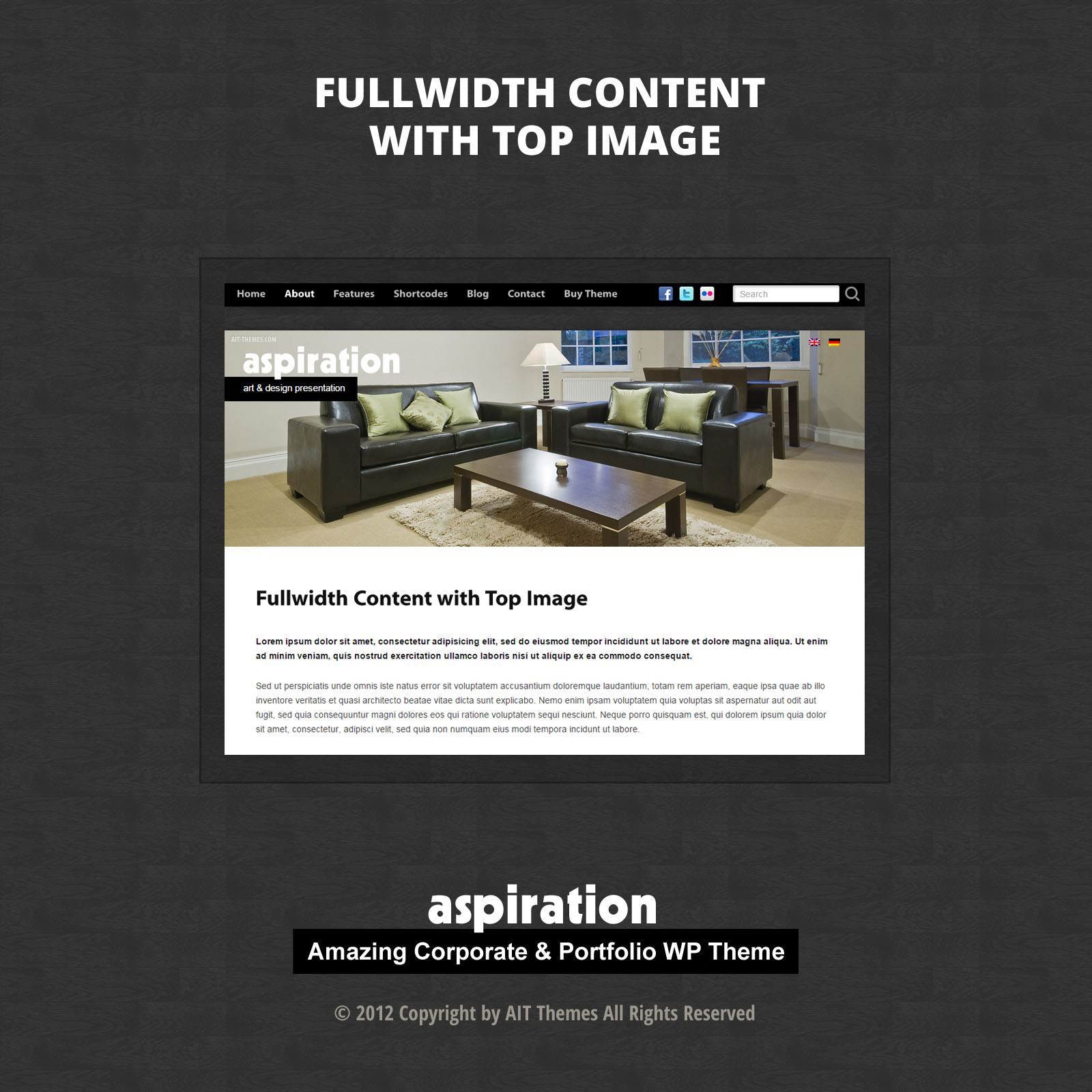 Fullwidth Content with Top Image
