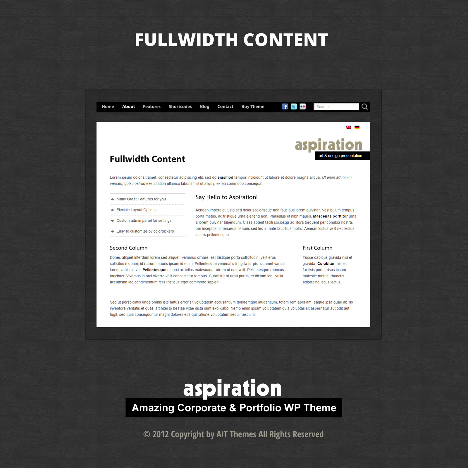 Fullwidth Content