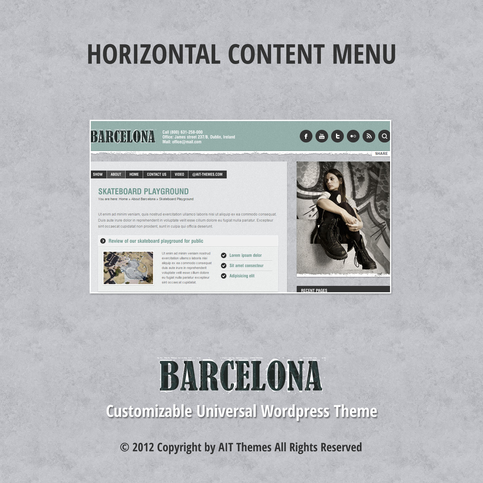 Horizontal Content Menu