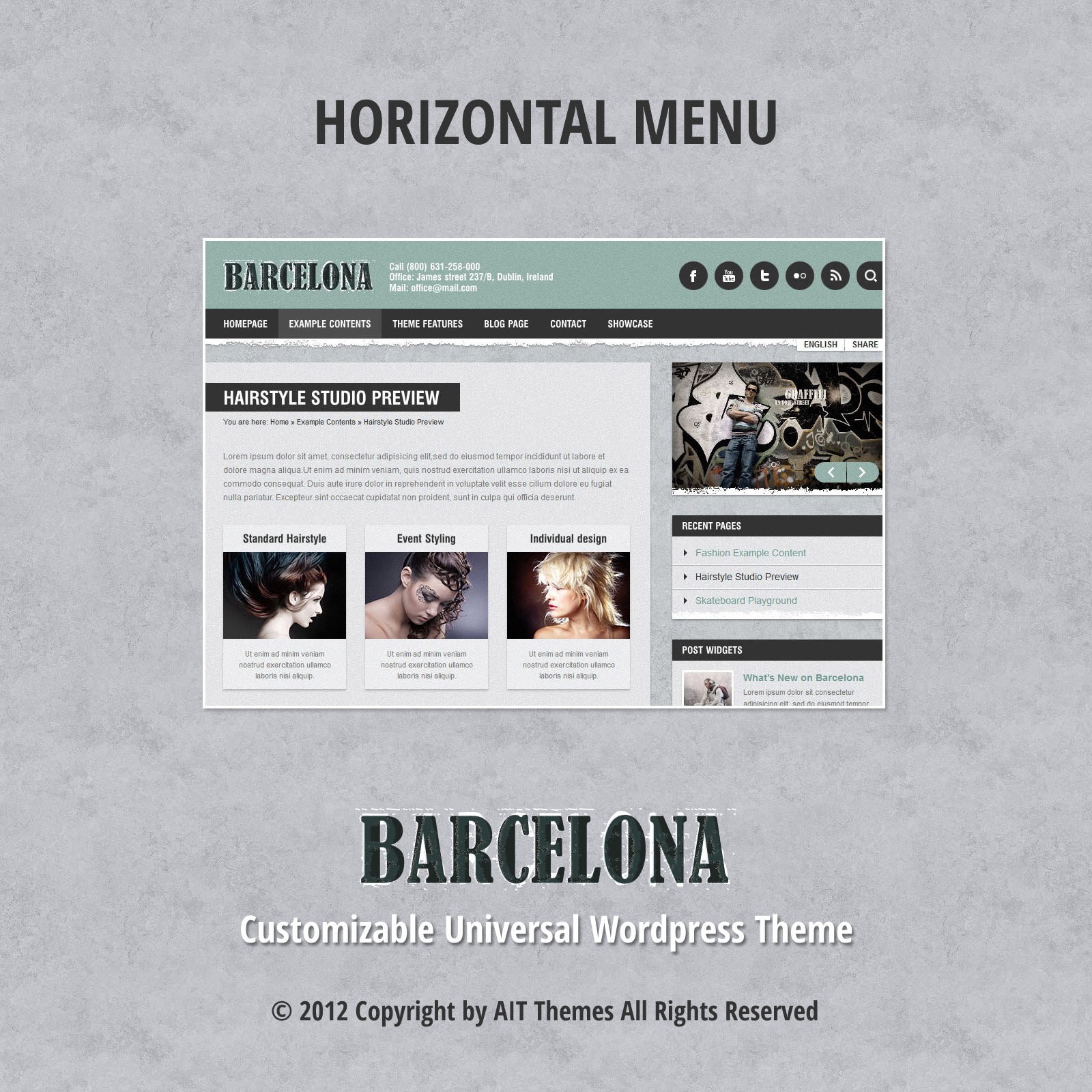 Horisontal menu