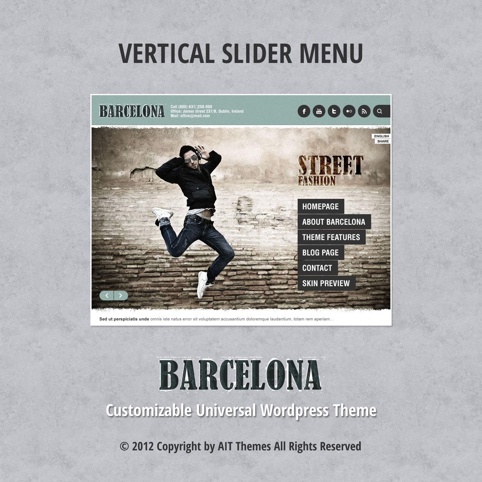 Slider avec Menu Vertical