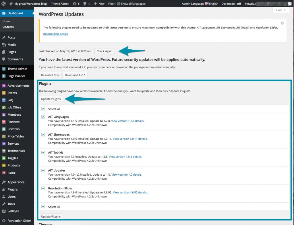 WordPress_Dashboard_AIT_Plugins_update