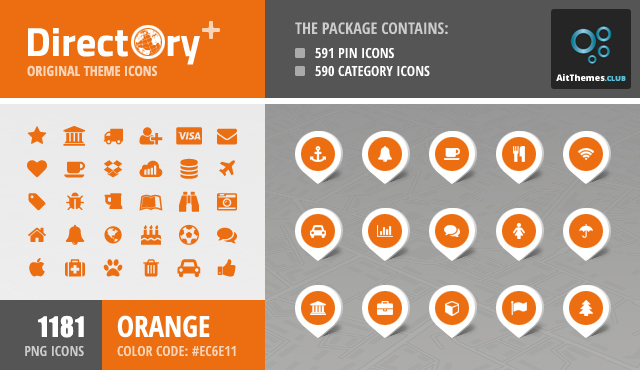 Directory+ Iconset – Orange