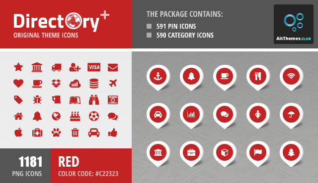Directory+ Iconset – Red
