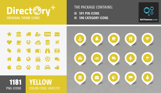 Directory+ Iconset – Yellow