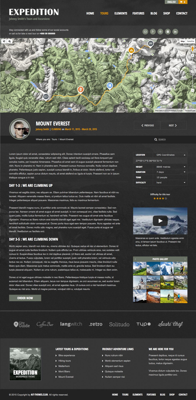 Expedition WordPress Theme | Theme für Reiseführer und Reisende