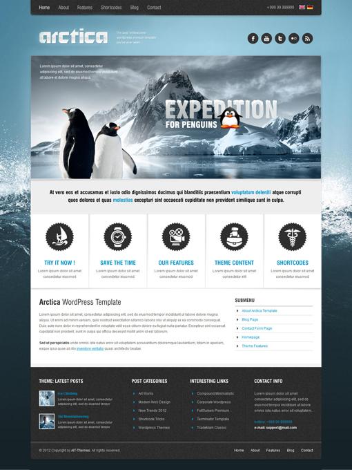 Tema WordPress Arctica | Tema WordPress clásico y sencillo