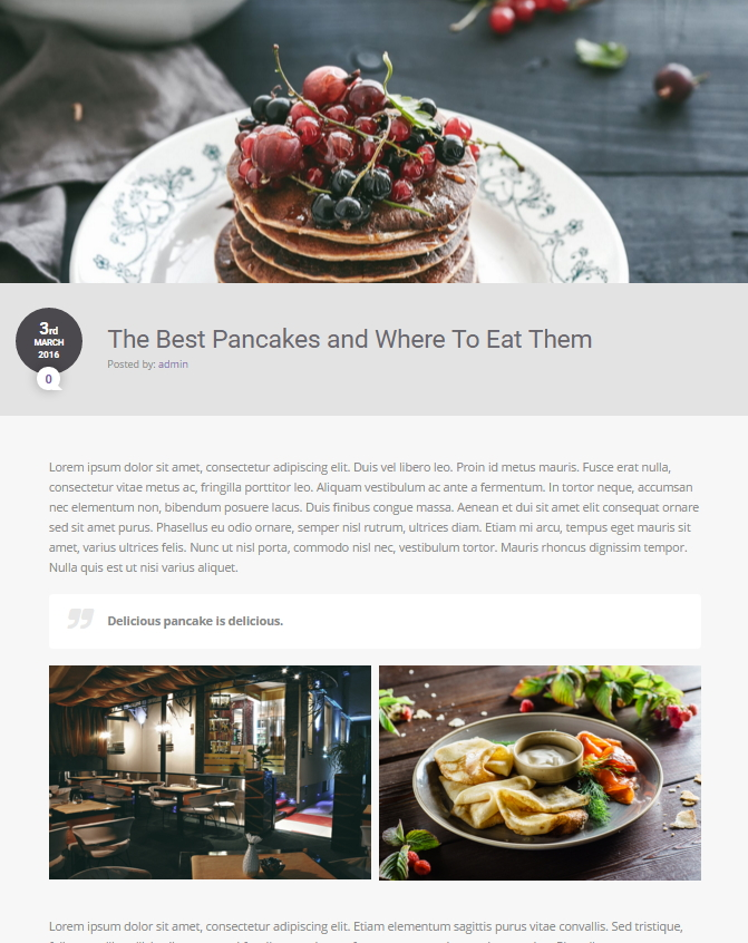 Foodguide - Fullwidth Layout