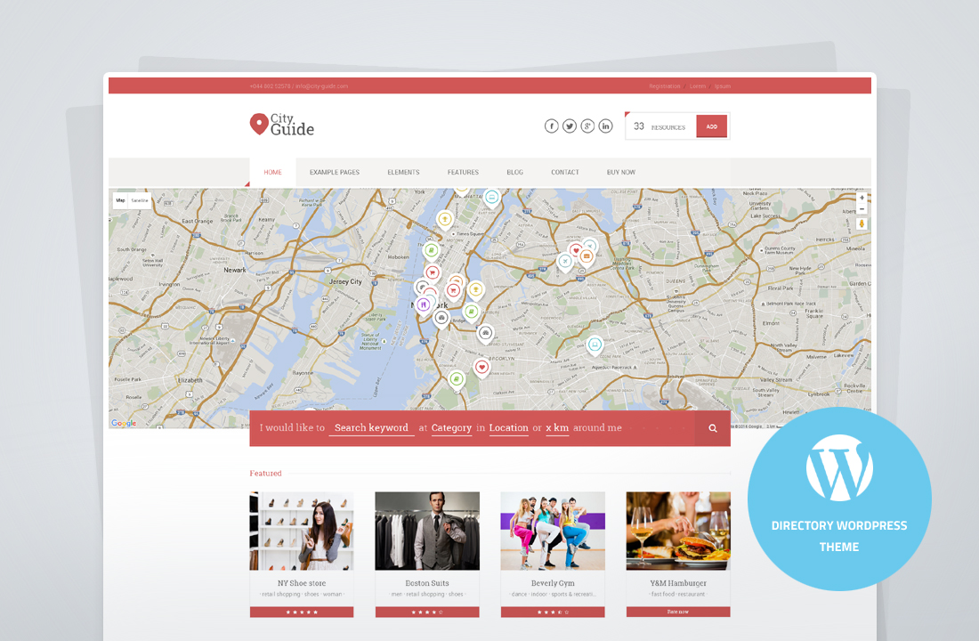 City Guide - Directory Theme