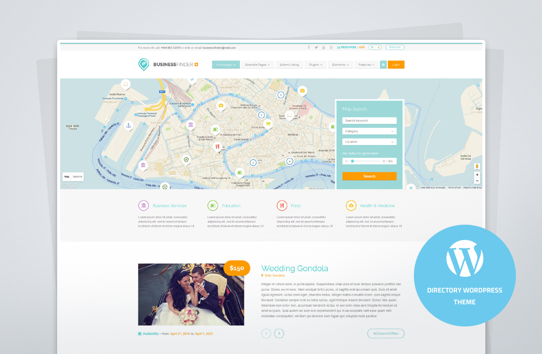 Business Finder+ - Directory Theme