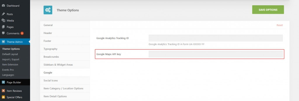 Google stock options api