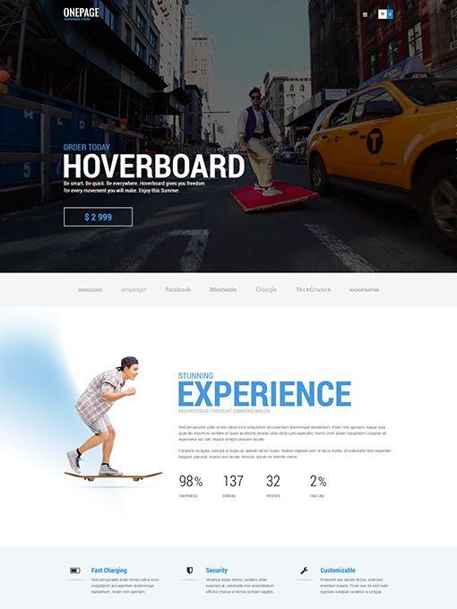 Tema de WordPress de una sola página para todo tipo de empresas