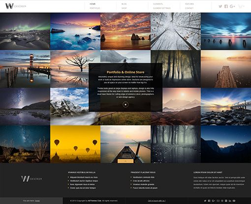 Widescreen WordPress theme