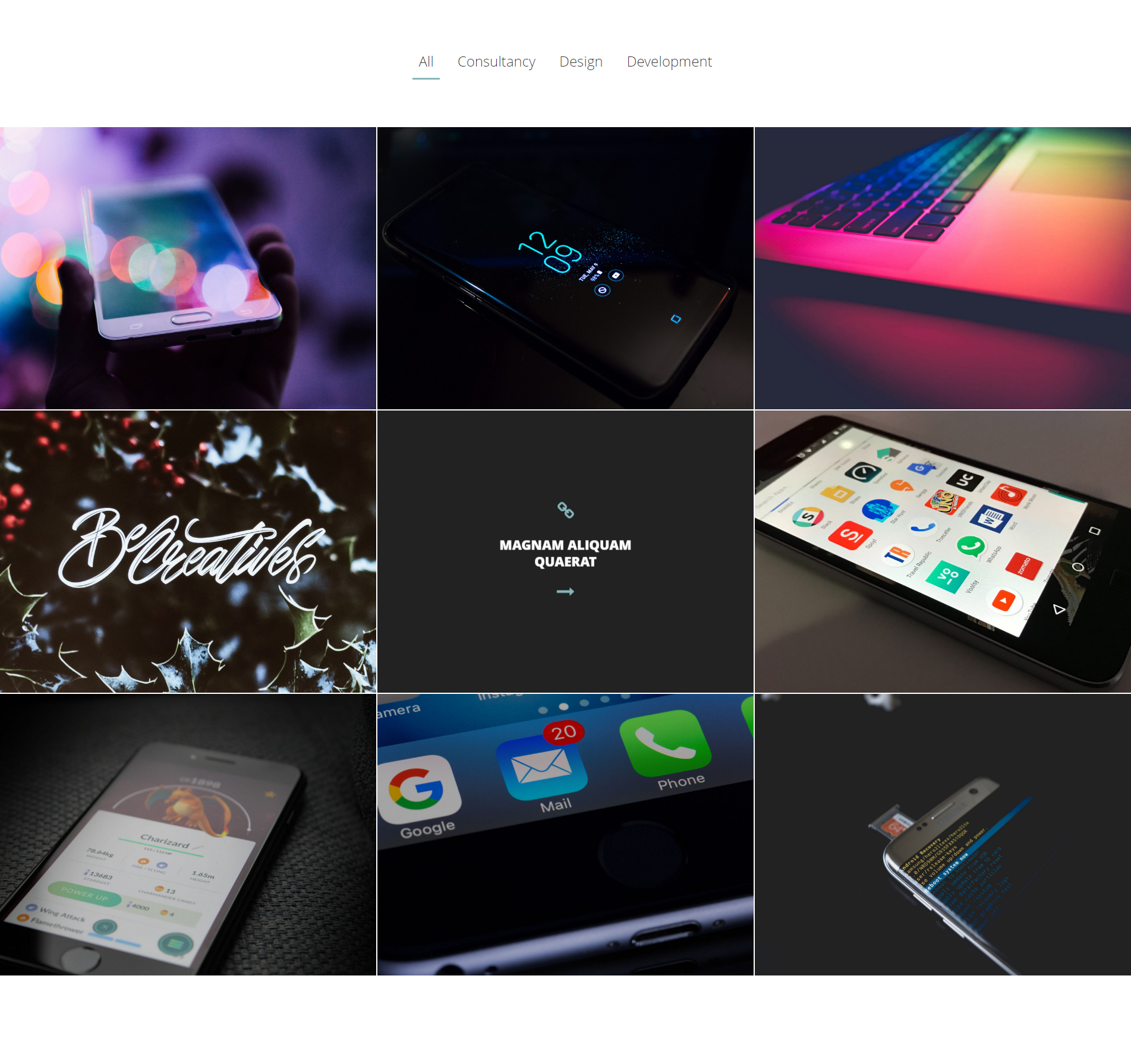 Portfolio posts in Denko Theme