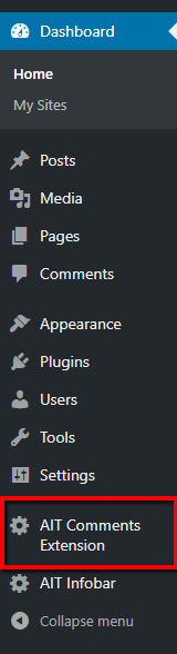 AIT Comments Extension plugin with our older Themes