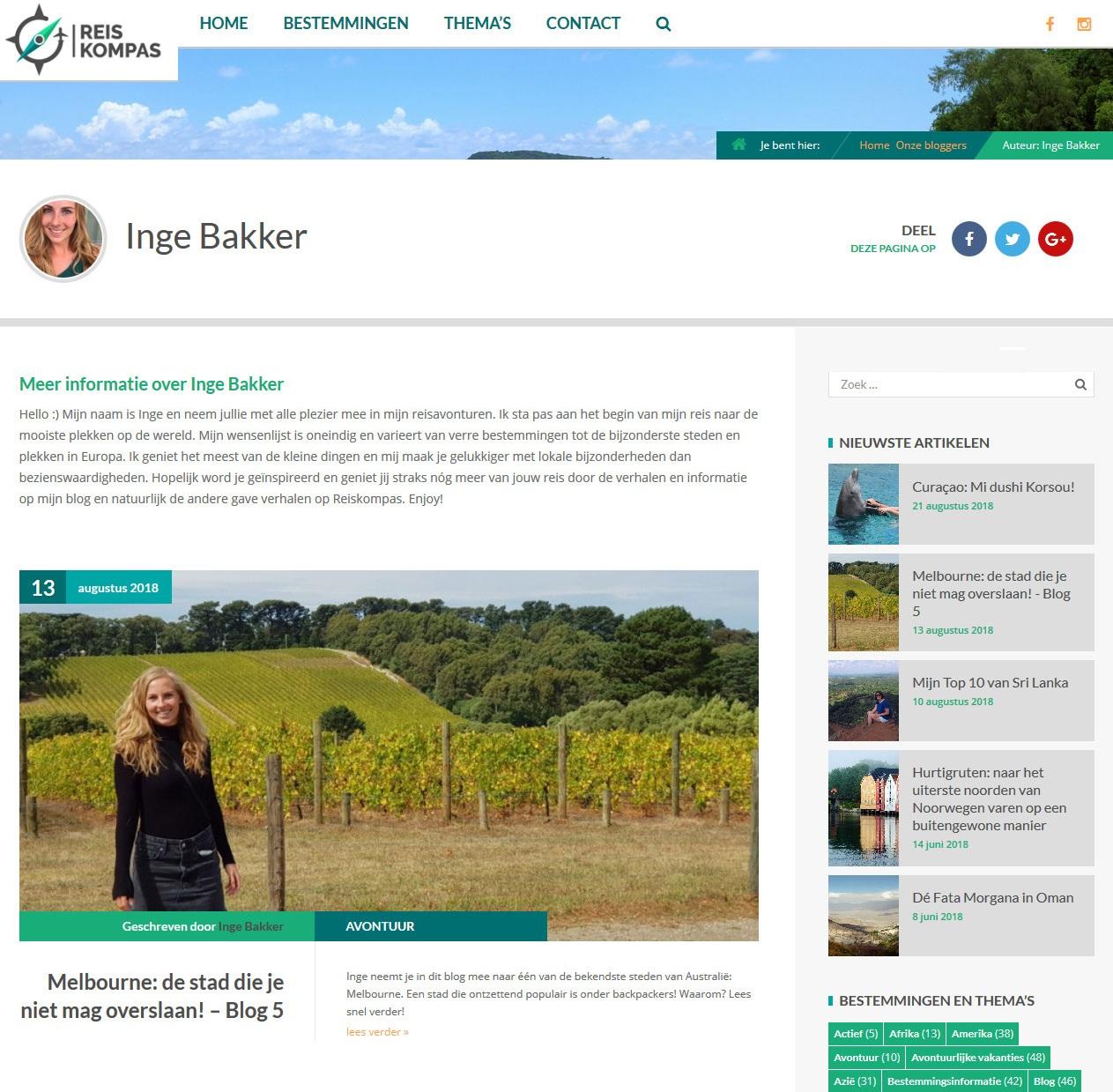 Blogger Inge