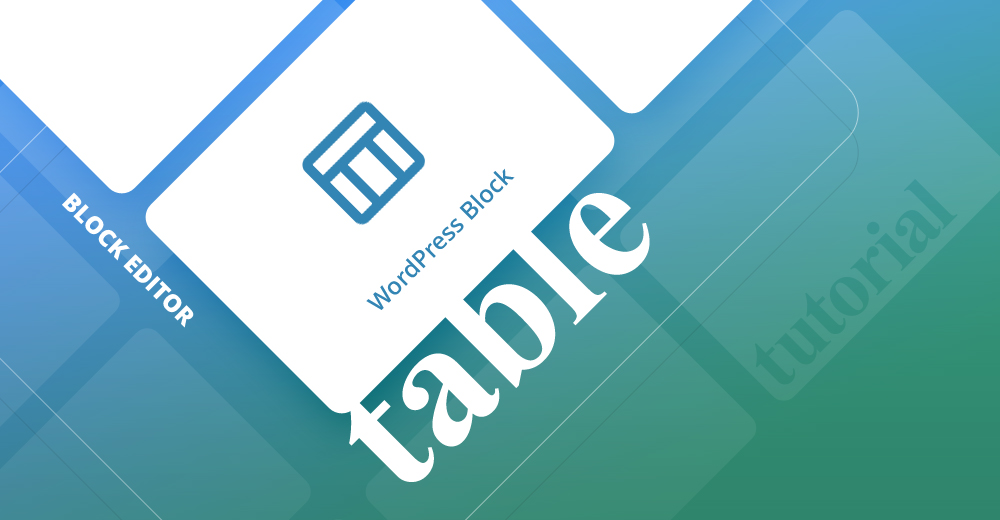 Table WordPress block