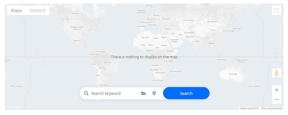 Display notification no address items on directory map