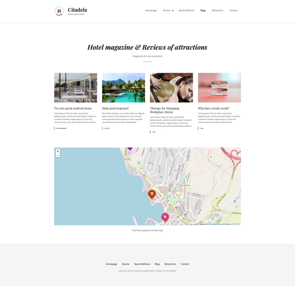 Hotel and accommodation website blog posts ideas