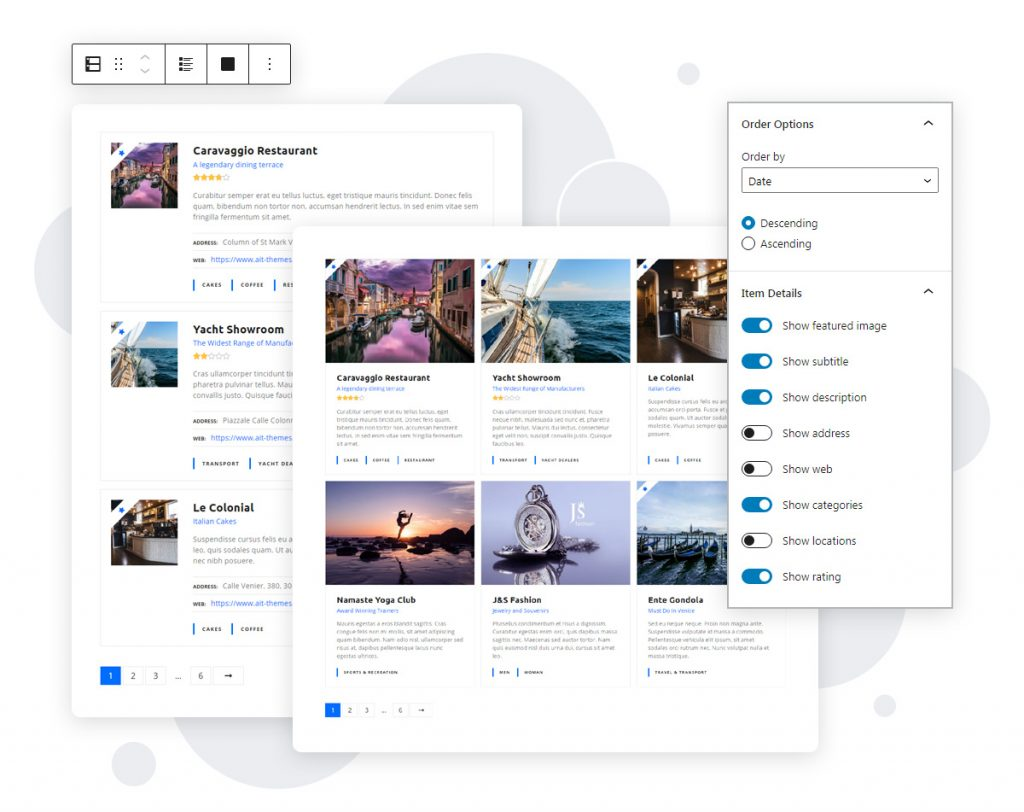 Listing Search Results