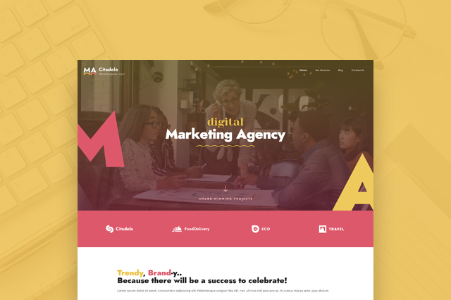 Get a free Marketing Agency layout for Citadela