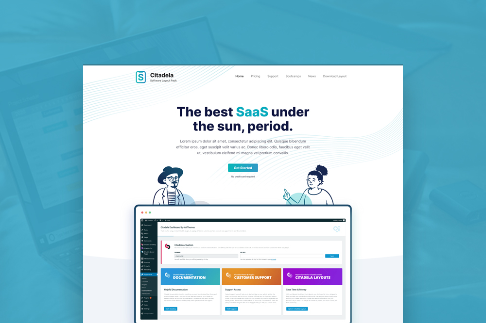 Get a FREE SaaS Layout for Citadela