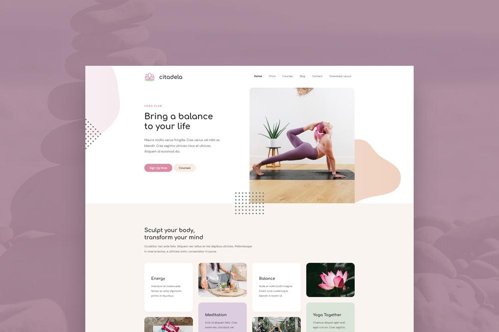 Get a FREE Yoga layout for Citadela