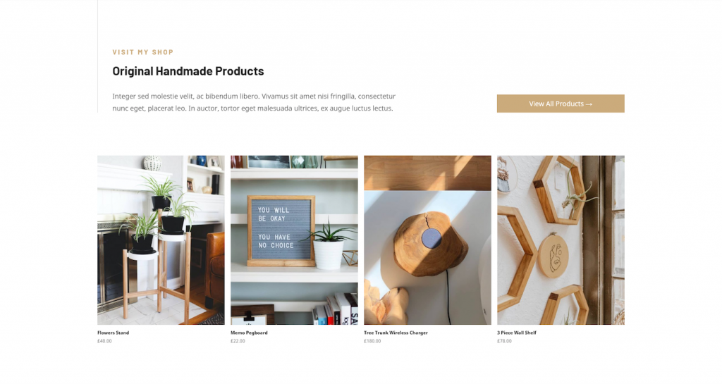 Craftsman WordPress theme products